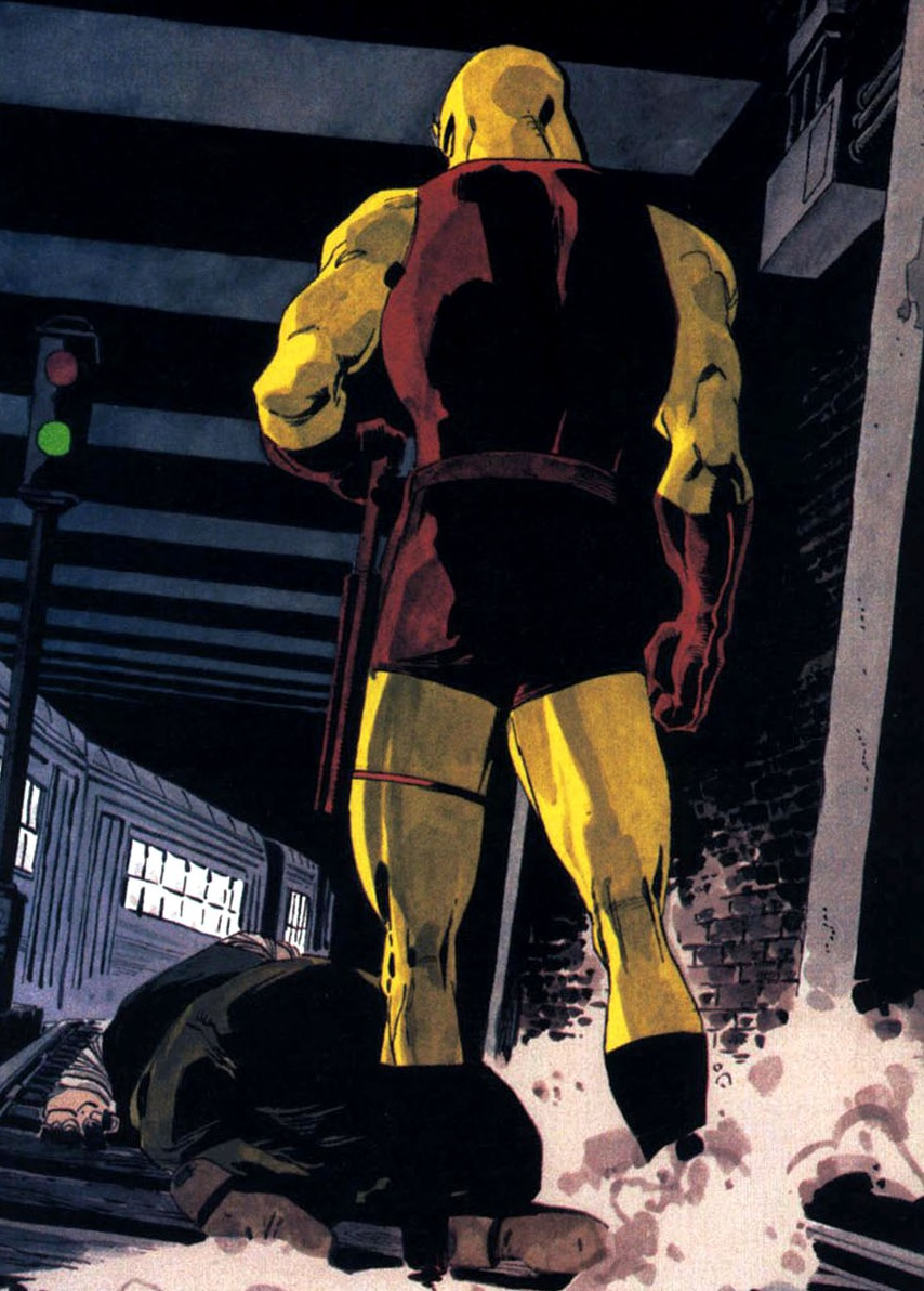 Matthew Murdock (Earth-616) finally catches up with the Fixer in Daredevil Yellow Vol 1 2.jpg