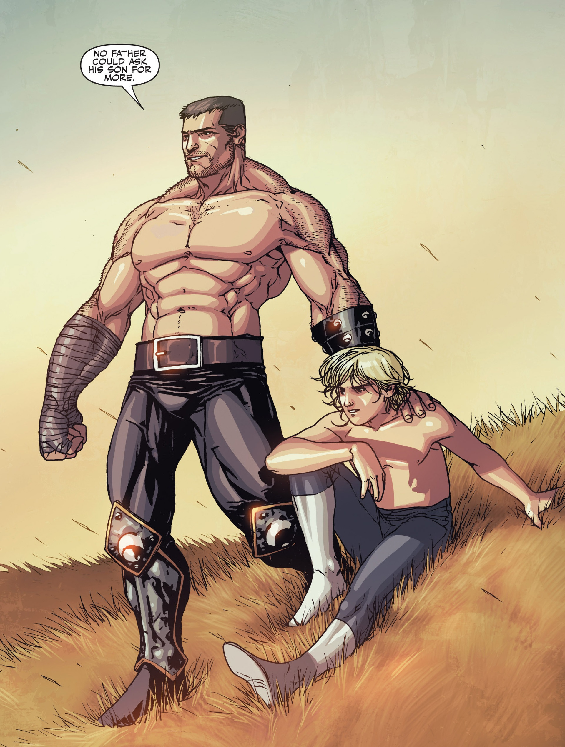 Ares and Alexander Aaron (Earth-616) from Secret Warriors Vol 1 22 0001.jpg