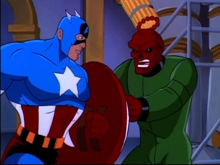 Johann Shmidt (Earth-92131) and Steven Rogers (Earth-92131) from X-Men The Animated Series Season 5 11 001.jpg