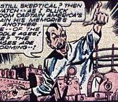 Emil Natas Captain America foe - His last name was Satan spelled backwards