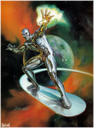 Norrin Radd (Earth-616) from 1993 Marvel Masterpieces (Trading Cards) 001