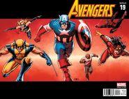 Avengers Vol 5 19 50 Years of Avengers Variant 5 Wraparound