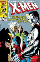 Uncanny X-Men 210 cover
