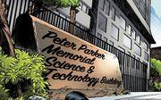 Peter Parker Memorial Science & Technology Building from Vault of Spiders Vol 1 1.jpg
