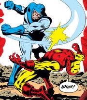 Basil Sandhurst (Earth-616) and Anthony Stark (Earth-616) from Iron Man Vol 1 90 0001.jpg