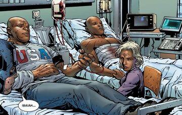 Elijah Bradley (Earth-616), Faith Shabazz (Earth-616), and Isaiah Bradley (Earth-616) from Young Avengers Vol 1 12 001.jpg