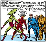 Impossible Man (Earth-616) and Fantastic Four (Earth-616) from Fantastic Four Vol 1 11 001.jpg