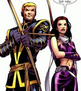 Katherine Bishop (Earth-616) and Clinton Barton (Earth-616) from Young Avengers Presents Vol 1 6 001