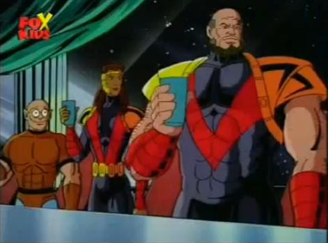 Peter Quinn (Earth-92131), Joanna Cargill (Earth-92131), and Marco Delgado (Earth-92131) from X-Men The Animated Series Season 4 6 001.jpg
