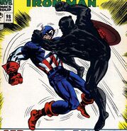 Steven Rogers (Earth-616) Captain America vs the Black Panther from Tales of Suspense Vol 1 98