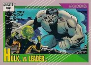 Samuel Sterns vs. Bruce Banner (Earth-616) from Marvel Universe Cards Series II 001