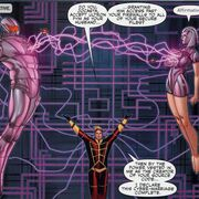 Ultron (Earth-616), Jocasta Pym (Earth-616) and Henry Pym (Earth-616) from Mighty Avengers Vol 1 36 0001.jpg
