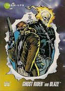 Daniel Ketch and Johnathon Blaze (Earth-616) from Marvel Universe Cards Series III 0001