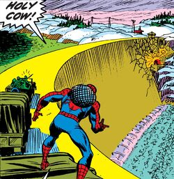 Maskattawan Dam from Amazing Spider-Man Vol 1 119 001.jpg
