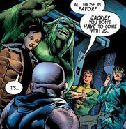 Gamma Flight (Alpha Flight Space Program) (Earth-616) and Michael Twoyoungmen (Earth-616) from Immortal Hulk Vol 1 46 001