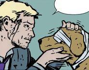 Clinton Barton (Earth-616) and Lucky (Earth-616) from Hawkeye Vol 4 1 001