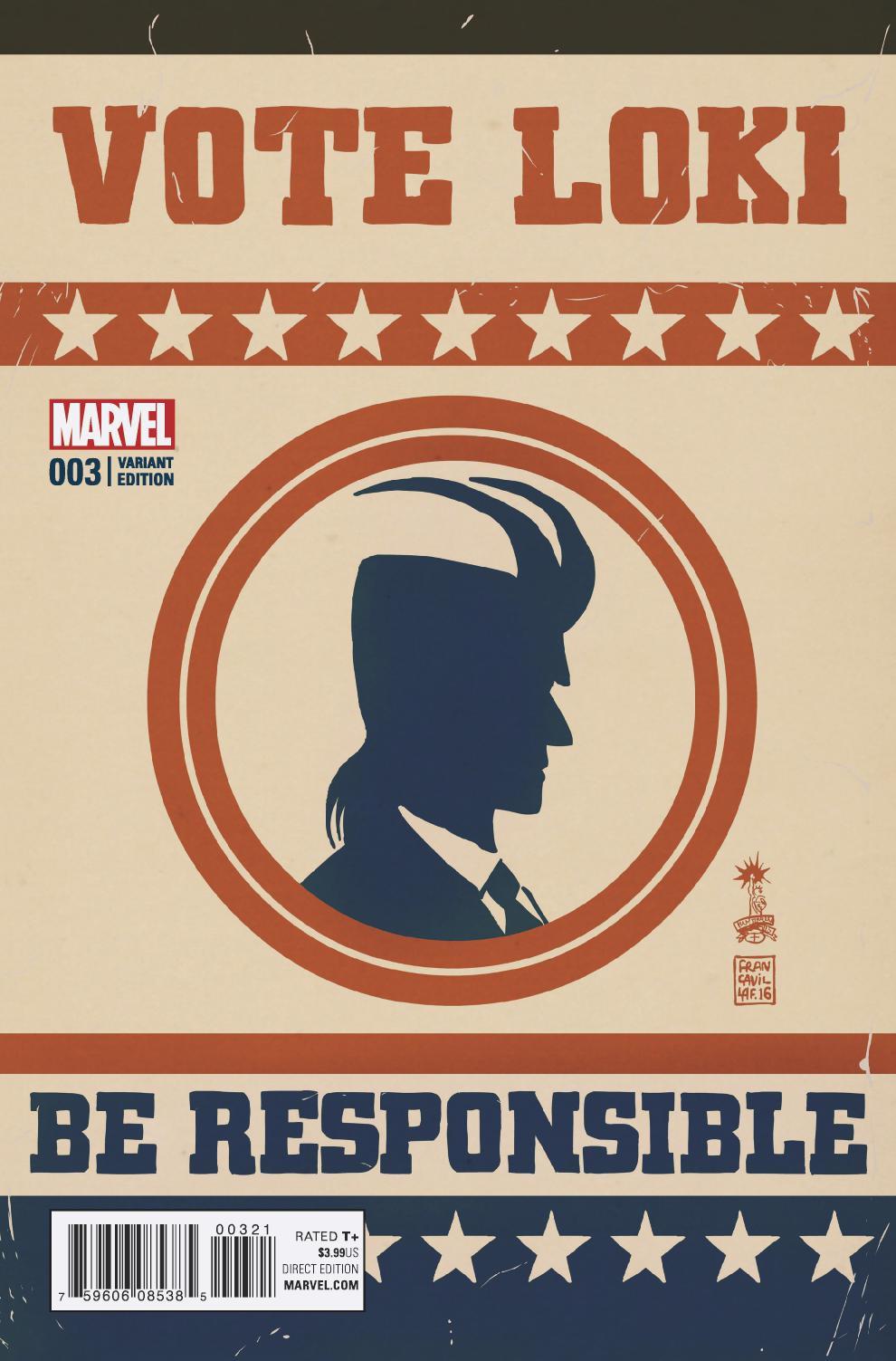 Vote Loki Vol 1 3 Francavilla Variant.jpg
