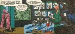 Henri-Désiré Landru (Earth-616), Stephen Strange (Earth-616), and Augustyne Phyffe (Earth-616) from Marvel Super-Heroes Vol 2 12 001.jpg
