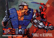 Nathan Summers (Earth-616) and Wade Wilson (Earth-616) from Ultra X-Men (Trading Cards) 1995 Set 001