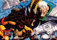 Nathan Summers (Earth-616) and James Howlett (Earth-616) from Ultra X-Men (Trading Cards) 1995 Set 001