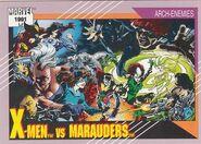 X-Men vs. Marauders (Earth-616) from Marvel Universe Cards Series II 0001