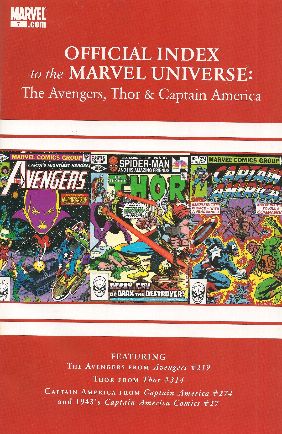 Avengers, Thor & Captain America: Official Index to the Marvel Universe Vol 1 7