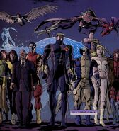 Janet Van Dyne (Earth-616) and X-Men (Earth-616) from X-Men Prelude to Schism Vol 1 3 001