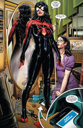 Jessica Drew (Earth-616) and Ronnie (Earth-616) from Spider-Woman Vol 7 1 0001