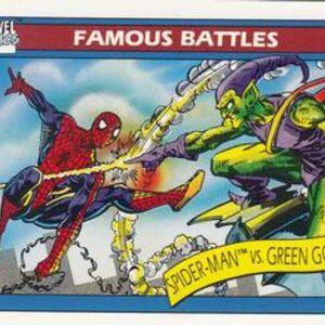 Peter Parker vs. Norman Osborn (Earth-616) from Marvel Universe Cards Series I 0001.jpg
