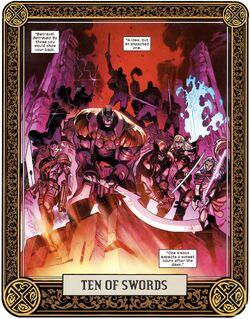 Ten of Swords from X of Swords Creation Vol 1 1 001.jpg