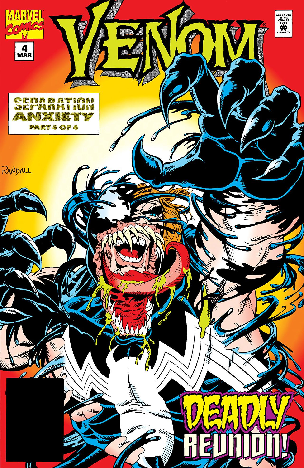 Venom Separation Anxiety Vol 1 4 Marvel Database Fandom