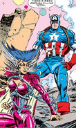 Steven Rogers & Cal´syee Neramani (Earth-616) from Avengers Vol 1 347 0001