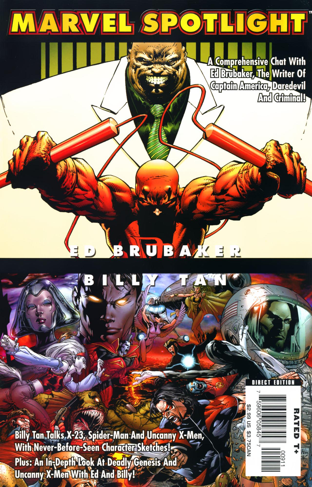 Marvel Spotlight: Ed Brubaker/Billy Tan Vol 1 1
