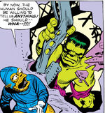 Bruce Banner (Earth-616) and Tribbitites from Incredible Hulk Vol 1 2 0001.jpg