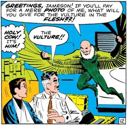 Peter Parker (Earth-616), John Jonah Jameson (Earth-616) and Adrian Toomes (Earth-616) from Amazing Spider-Man Vol 1 7 0001.jpg