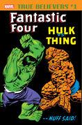True Believers Fantastic Four - Hulk vs. Thing Vol 1 1