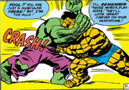 Bruce Banner (Earth-616) and Benjamin Grimm from Fantastic Four Vol 1 25 0001