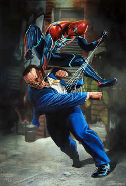 Joseph Martello (Earth-1048) and Spider-Man (Earth-1048) from Marvel's Spider-Man (video game).png