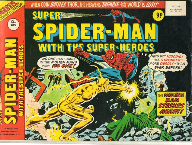 Super Spider-Man with the Super-Heroes Vol 1 181