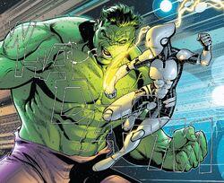Aikku Jokinen (Earth-616) vs. Bruce Banner (Earth-616) from Avengers Vol 1 684 001.jpg