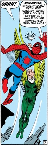Peter Parker (Earth-616) and Adrian Toomes (Earth-616) from Amazing Spider-Man Vol 1 7 0001.jpg