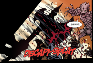 Rocket Raccoon (Earth-616), Groot (Earth-616) and Paen-Umbra (Earth-616) from Deadpool - Too Soon Infinite Comic Vol 1 3 001.png