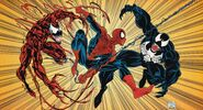Peter Parker, Edward Brock and Cletus Kasady (Earth-616) from Amazing Spider-Man Vol 1 365 0001