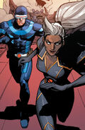 Scott Summer (Earth-616) and Ororo Munroe (Earth-616) from X-Men Vol 5 1 001