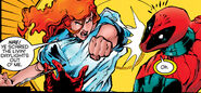 Theresa Cassidy (Earth-616) and Wade Wilson (Earth-616) from X-Force Vol 1 47 001