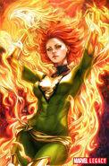 Phoenix Resurrection The Return of Jean Grey Vol 1 1 Artgerm Green Costume Variant Textless