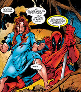 Theresa Cassidy (Earth-616) and Wade Wilson (Earth-616) from X-Force Vol 1 47 002