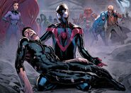 Anthony Stark (Earth-616) and Miles Morales (Earth-1610) from Civil War II Vol 1 8 001