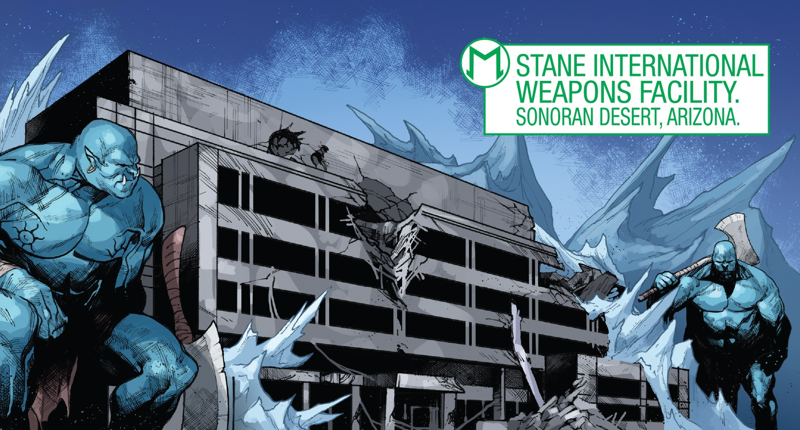 Stane International Weapons Facility from War of the Realms Strikeforce The War Avengers Vol 1 1 001.jpg