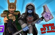 Loki Laufeyson (Earth-91119) and Ronan (Earth-91119) from Marvel Super Hero Squad Online 001